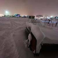 Winter on a the farm Fagrihvammur in Skutulsfjörður.