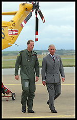 Prince Charles visits Prince William at RAF Valley 9-7-12