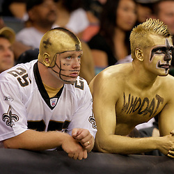 2009 September 13: New Orleans Saints fans during a 45-27 win by the New Orleans Saints over the Detroit Lions at the Louisiana Superdome in New Orleans, Louisiana.