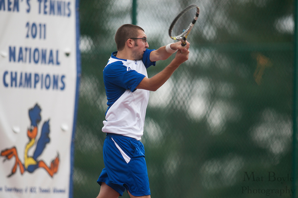 Gloucester County College Tennis hosts Mercer County College on Wednesday March 21, 2012. (photo / Mat Boyle)