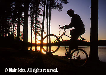 Bicycling, Pennsylvania, Outdoor recreation, Biking in PA Bicycling, Young Male, PA Lake Sunset Young Adult Couple Mountain Bikes