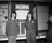 04/01/1974.01/04/1974.4th January 1974.The Aer Lingus Young Scientist Exhibition at the RDS, Dublin..Picture shows Con O'Mahony, Vocational School, Bandon who did a project on the effects of different coloured artifical lighting on plant growth and Pauline Sheehan of Presentation Convent, Bandon who did a project to investigate the causes of abortion in cows at the Young Scientist Exhibition.