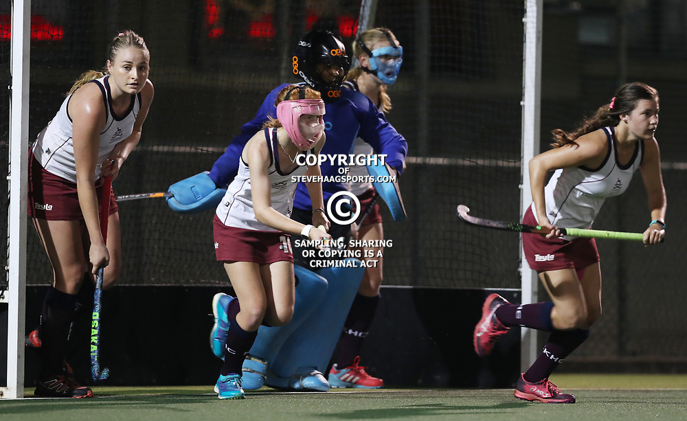 during the match between Riverside HC and Kearsney HC Women GECC Riverside Hockey Club Belgotex Sport Elite Club Challenge at the Riverside Hockey Club Park Durban North , South Africa 3rd August 2017 (Photo by Steve Haag)<br /> <br /> images for social media must have consent from Steve Haag