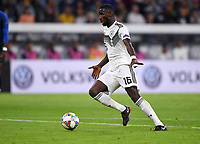 FUSSBALL UEFA Nations League in Muenchen Deutschland - Frankreich       06.09.2018 Antonio Ruediger (Deutschland) --- DFB regulations prohibit any use of photographs as image sequences and/or quasi-video. ---