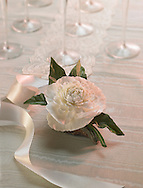 porcelain peony with wedding props
