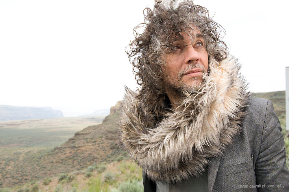 George, WA. - May 29th, 2011 Wayne Coyne poses for a portrait backstage at the Sasquatch Music Festival in George, WA. United States