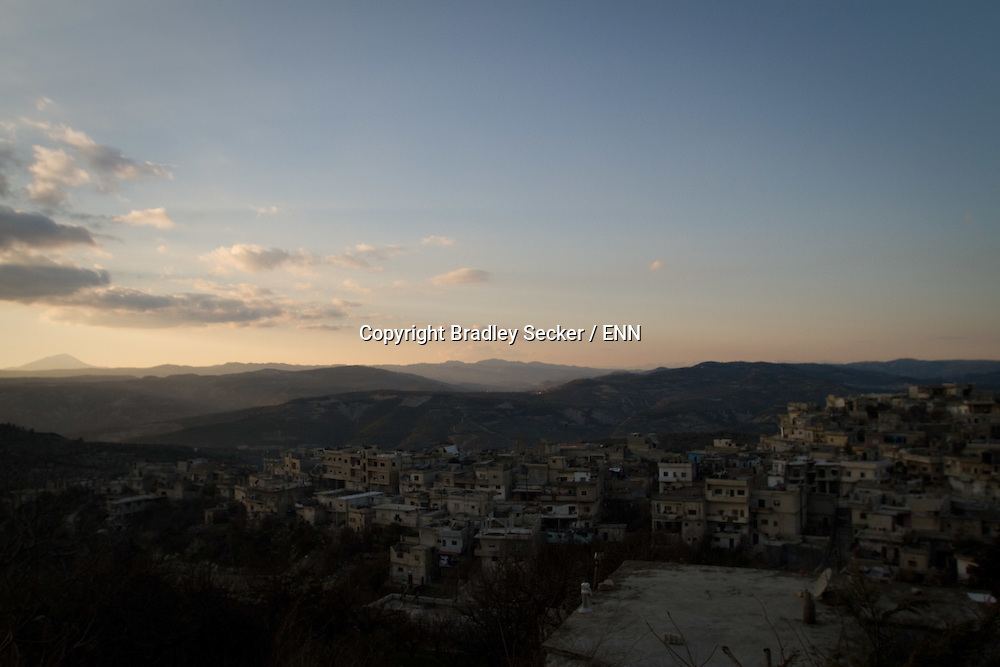 The town of Al Janoudiyah, Idlib province, Syria, currently under control of the Free Syrian Army.