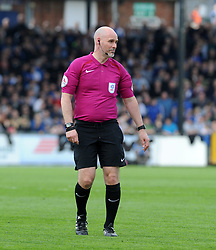Controversial referee, Kevin Johnson - Mandatory by-line: Neil Brookman/JMP - 14/04/2018 - FOOTBALL - Memorial Stadium - Bristol, England - Bristol Rovers v Blackburn Rovers - Sky Bet League One