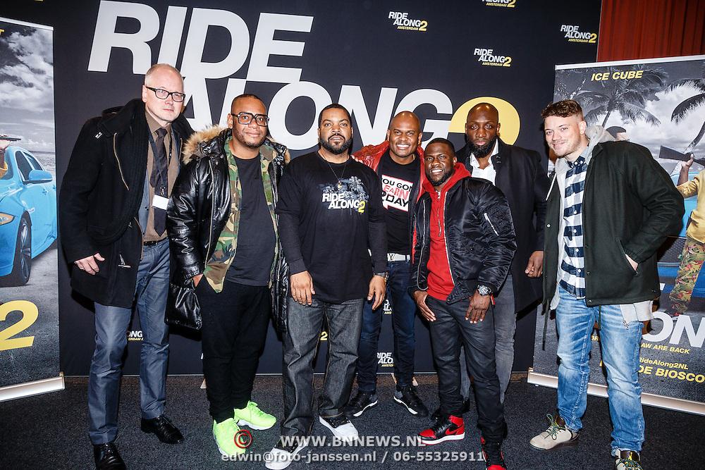NLD/Amsterdam/20160116 - Photocall en premiere Ride Along 2, Howard Komproe, Murth Mossel, Gers Pardoel, Fernando Halman en Roue Verveer