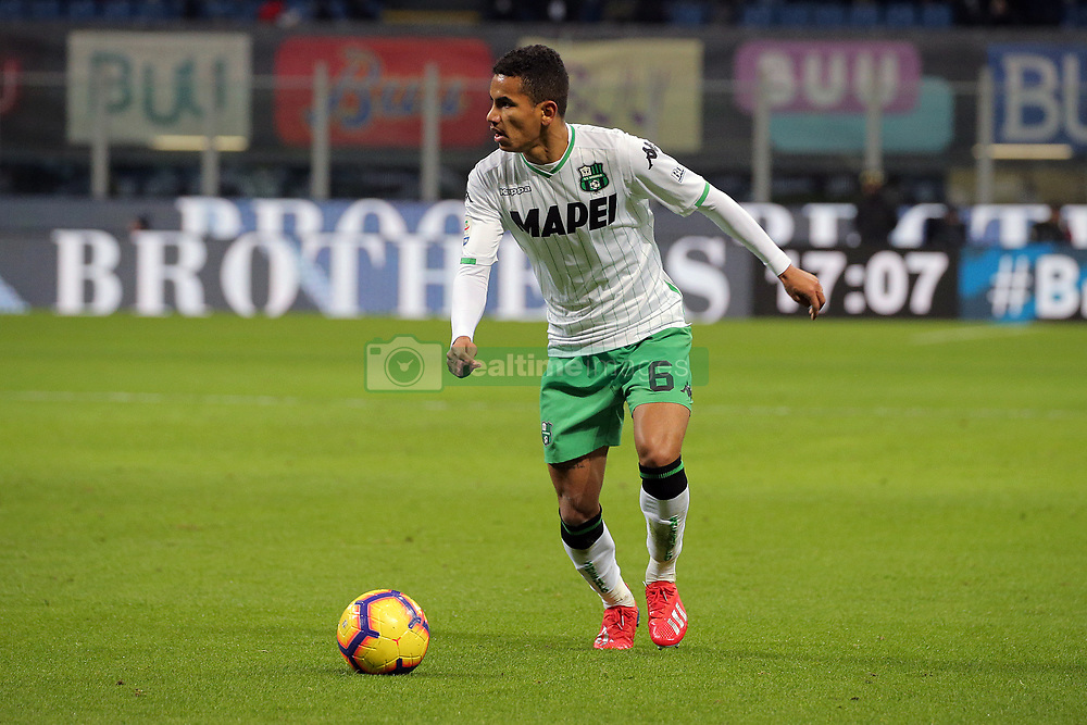 January 19, 2019 - Milan, Milan, Italy - Rogerio #6 of US Sassuolo in action during the serie A match between FC Internazionale and US Sassuolo at Stadio Giuseppe Meazza on January 19, 2019 in Milan, Italy. (Credit Image: © Giuseppe Cottini/NurPhoto via ZUMA Press)
