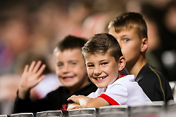 "MK Dons fans during the Carabao Cup, Second Round match at Stadium MK, Milton Keynes. PRESS ASSOCIATION Photo. Picture date: Tuesday August 22, 2017. See PA story SOCCER MK Dons. Photo credit should read: Scott Heavey/PA Wire. RESTRICTIONS: EDITORIAL USE ONLY No use with unauthorised audio, video, data, fixture lists, club/league logos or ""live"" services. Online in-match use limited to 75 images, no video emulation. No use in betting, games or single club/league/player publications."