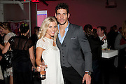 MOLLIE KING; DAVID GANDY, Tunnel of Love. Funfair party The Mending Broken Hearts appeal In aid of the British Heart Foundation. Victoria House, Bloomsbury. London. 17 May 2011. <br /> <br />  , -DO NOT ARCHIVE-© Copyright Photograph by Dafydd Jones. 248 Clapham Rd. London SW9 0PZ. Tel 0207 820 0771. www.dafjones.com.