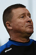 Chesham United manager Andy Leese during the The FA Cup match between Bristol Rovers and Chesham FC at the Memorial Stadium, Bristol, England on 8 November 2015. Photo by Alan Franklin.