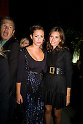 MARIO TESTINO; CAMILLA AL FAYAD; DASHA ZHUKOVA, The Summer Party. Hosted by the Serpentine Gallery and CCC Moscow. Serpentine Gallery Pavilion designed by Frank Gehry. Kensington Gdns. London. 9 September 2008.  *** Local Caption *** -DO NOT ARCHIVE-© Copyright Photograph by Dafydd Jones. 248 Clapham Rd. London SW9 0PZ. Tel 0207 820 0771. www.dafjones.com.