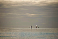 Paddle Board surfers take advantage of the calm sea at Troon beach, Thursday 02 November 2017, Angie Isac | EEm