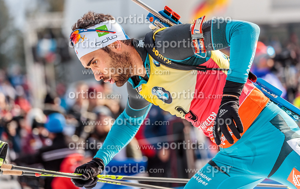 12.02.2017, Biathlonarena, Hochfilzen, AUT, IBU Weltmeisterschaften Biathlon, Hochfilzen 2017, Verfolgung Herren, im Bild Martin Fourcade of France // Martin Fourcade of France during Mens pursuit of the IBU Biathlon World Championships at the Biathlonarena in Hochfilzen, Austria on 2017/02/12. EXPA Pictures © 2017, PhotoCredit: EXPA/ JFK
