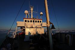 ATLANTIC OCEAN ABOARD ARCTIC SUNRISE 31MAY11 - The Greenpeace ship Arctic Sunrise in the Arctic sea ic in the Labrador Sea.....jre/Photo by Jiri Rezac / Greenpeace