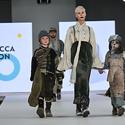 Designer Rebecca Wilson at the Best of Graduate Fashion Week showcases at the Graduate Fashion Week 2018, June 6 2018 at Truman Brewery, London, UK.