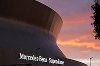 28 November 2011: The Mercedes-Benz Superdome exterior before the New Orleans Saints 49-24 victory over the New York Giants on Monday Night Football in New Orleans, LA.