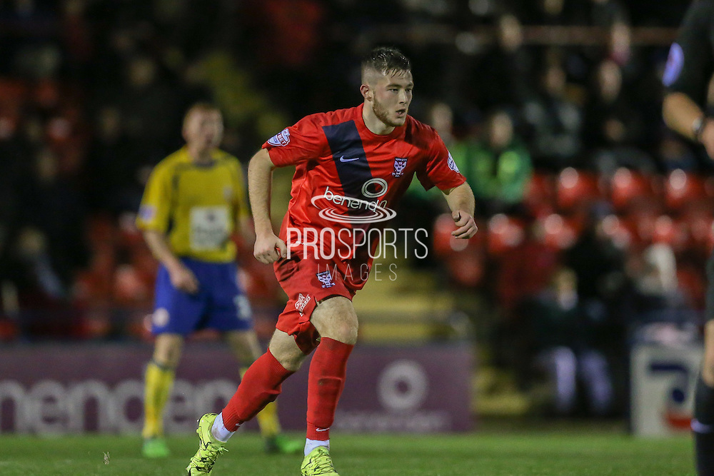 York City forward, on loan from Middlesbrough, Bradley Fewster  during the Sky Bet League 2 match between York City and Accrington Stanley at Bootham Crescent, York, England on 28 November 2015. Photo by Simon Davies.