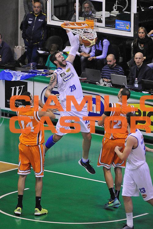 DESCRIZIONE : Treviso Lega due 2015-16  Universo Treviso De Longhi - Aurora Basket Jesi<br /> GIOCATORE : andrea ancellotti<br /> CATEGORIA : Schiacciata sequenza<br /> SQUADRA : Universo Treviso De Longhi - Aurora Basket Jesi<br /> EVENTO : Campionato Lega A 2015-2016 <br /> GARA : Universo Treviso De Longhi - Aurora Basket Jesi<br /> DATA : 31/10/2015<br /> SPORT : Pallacanestro <br /> AUTORE : Agenzia Ciamillo-Castoria/M.Gregolin<br /> Galleria : Lega Basket A 2015-2016  <br /> Fotonotizia :  Treviso Lega due 2015-16  Universo Treviso De Longhi - Aurora Basket Jesi