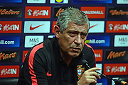 Portugal Manager Fernando Santos during the Portuguese Press Conference at Wembley Stadium, London, England on 1 June 2016. Photo by Jon Bromley.