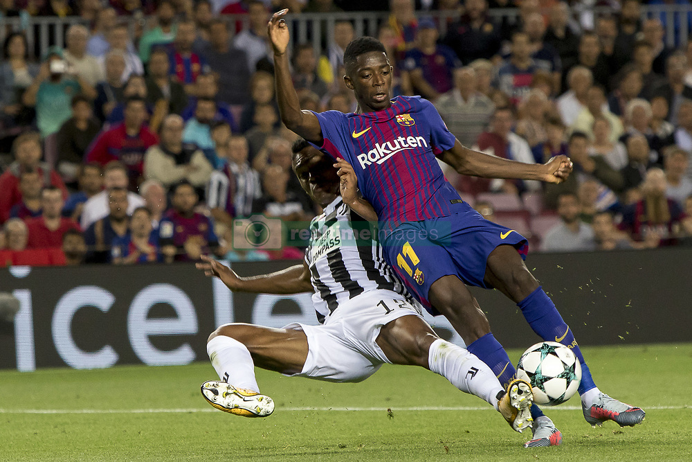 September 12, 2017 - Barcelona, Catalonia, Spain - Ousmane Dembélé during the UEFA Champions League match between the FC Barcelona and Juventus in the Camp Nou Stadium in Barcelona, Spain on September 12, 2017  (Credit Image: © Miquel Llop/NurPhoto via ZUMA Press)