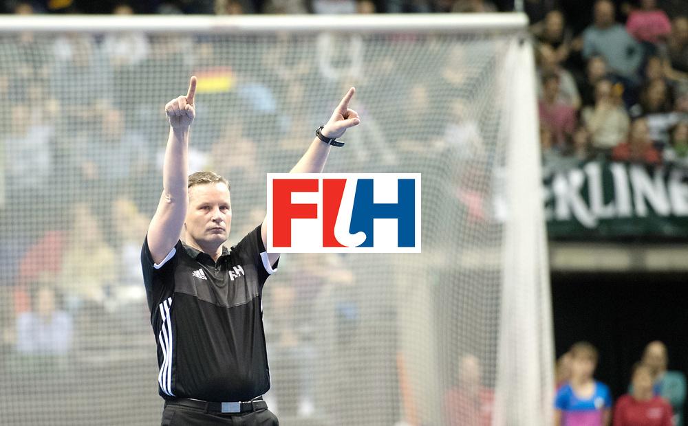 BERLIN - Indoor Hockey World Cup<br /> Final: Germany - Austria<br /> foto: /Umpire LINKOWSKI Pawel <br /> WORLDSPORTPICS COPYRIGHT FRANK UIJLENBROEK