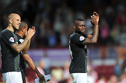 Charlton Athletic's Igor Vetokele applauds his team's supporters after the match - Photo mandatory by-line: Patrick Khachfe/JMP - Mobile: 07966 386802 09/08/2014 - SPORT - FOOTBALL - Brentford - Griffin Park - Brentford v Charlton Athletic - Sky Bet Championship - First game of the season