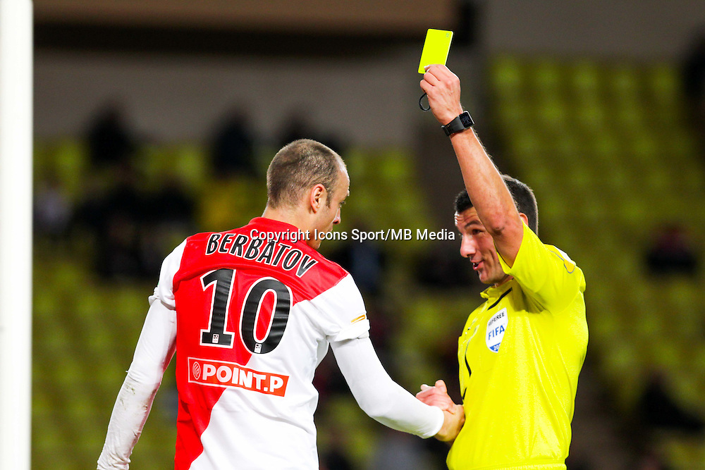Dimitar BERBATOV / Nicolas RAINVILLE  - 14.01.2015 - Monaco / Guingamp - 1/4Finale Coupe de la Ligue<br /> Photo : Jean Christophe Magnenet / Icon Sport