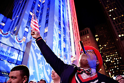 November 9, 2016 - New York, USA - US presidential election night in New York, USA. People express their emotions in the streets when Donald Trump wins the election. (Credit Image: © Aftonbladet/IBL via ZUMA Wire)