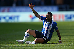 Wigan Athletic's Jermaine Pennant reacts - Photo mandatory by-line: Richard Martin-Roberts/JMP - Mobile: 07966 386802 - 07/03/2015 - SPORT - Football - Wigan - DW Stadium - Wigan Athletic v Leeds United - Sky Bet Championship