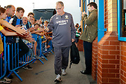 Leeds United Manager Marcelo Bielsa arriving during the EFL Cup match between Leeds United and Stoke City at Elland Road, Leeds, England on 27 August 2019.