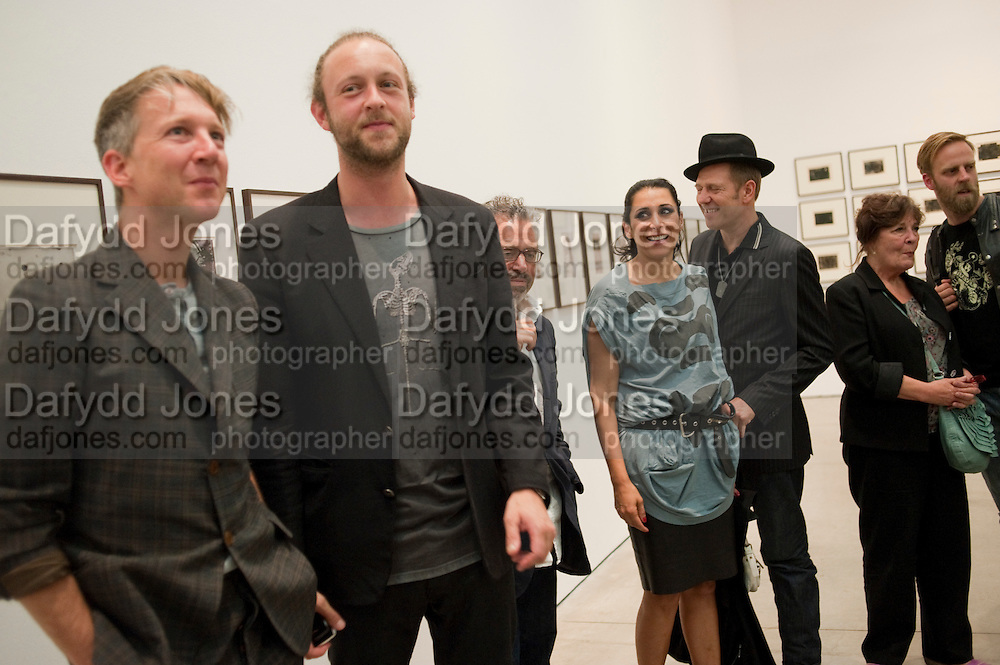 JEFFERSON HACK; LORD EDWARD SPENCER-CHURCHILL; SERENA REES; PAUL SIMONON, Jake or Dinos Chapman, White Cube, Mason's Yard and afterwards at The Tab Centre, Austin Street, London E2. 14 July 2011. <br /> <br />  , -DO NOT ARCHIVE-© Copyright Photograph by Dafydd Jones. 248 Clapham Rd. London SW9 0PZ. Tel 0207 820 0771. www.dafjones.com.