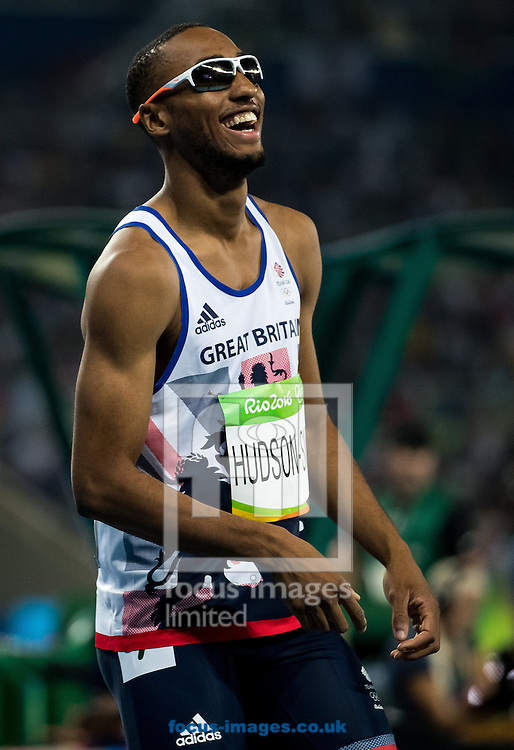 Matthew Hudson-Smith of Great Britain during the Men's 400m Final on day nine of the XXXI 2016 Olympic Summer Games in Rio de Janeiro, Brazil.<br /> Picture by EXPA Pictures/Focus Images Ltd 07814482222<br /> 14/08/2016<br /> *** UK &amp; IRELAND ONLY ***<br /> <br /> EXPA-GRO-160815-5340.jpg