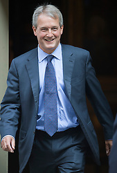 © London News Pictures. 04/09/2012. London, UK.  Owen Paterson MP leaving Number 10 Downing street on the day of cabinet reshuffle, September 04, 2012. Photo credit: Ben Cawthra/LNP