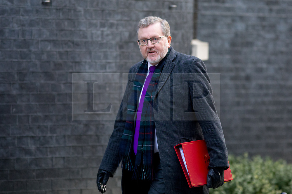 © Licensed to London News Pictures. 06/02/2018. London, UK. Secretary of State for Scotland David Mundell arriving in Downing Street to attend a Cabinet meeting this morning. Photo credit : Tom Nicholson/LNP