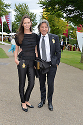 LEON & YANA MAX at the Qatar Goodwood Festival - Ladies Day held at Goodwood Racecourse, West Sussex on 30th July 2015.