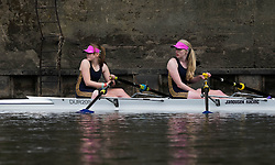 © Licensed to London News Pictures.13/06/15<br /> Durham, England<br /> <br /> Two rowers wait for their heat during the 182nd Durham Regatta rowing event held on the River Wear. The origins of the regatta date back  to commemorations marking victory at the Battle of Waterloo in 1815. This is the second oldest event of this type in the country and attracts over 2000 competitors from across the country.<br /> <br /> Photo credit : Ian Forsyth/LNP