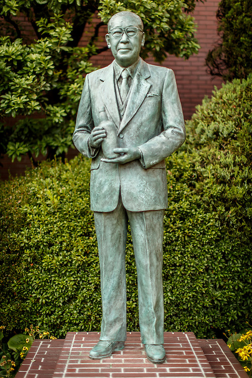 A statue of Keizo Saji, on display at Yamazaki Distillery in Yamazaki, Osaka Prefecture, Japan, November 6, 2015. Saji was the son of Shinjiro Torii, the founder of Yamazaki's parent company Suntory, and lead the company to new heights by building a second distillery and introducing premium products to the company's catalog. Gary He/DRAMBOX MEDIA LIBRARY