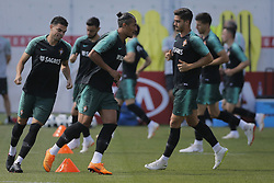 June 28, 2018 - Na - Kratovo, 06/28/2018 - The national soccer team trained this afternoon at the Saturn training center in Russia, where they are preparing for the first knockout game against Uruguay. Pepe, Bruno Alves and André Silva  (Credit Image: © Atlantico Press via ZUMA Wire)