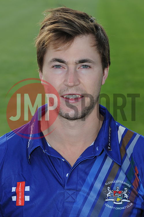 Gloucestershire player, James Fuller - Photo mandatory by-line: Dougie Allward/JMP - 07966 386802 - 10/04/2015 - SPORT - CRICKET - Bristol, England - Bristol County Ground - Gloucestershire County Cricket Club Photocall.