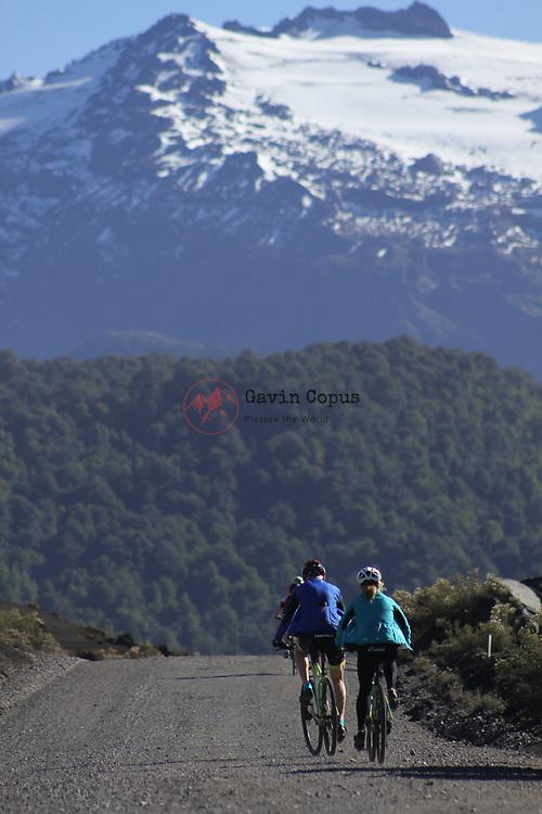 Volcano Sierra Nevada, Conguillío National Park, Chile, Exodus, Biking