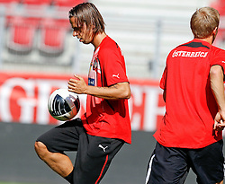09.08.2011, Wörthersee-Arena, Klagenfurt, AUT, OEFB Training, im Bild Christian Fuchs (AUT) // during a Trainingssession of the Nationalteam from Austria, W?rthersee Arena, Klagenfurt, 2010-08-09 , EXPA Pictures © 2011, PhotoCredit: EXPA/ O. Hoeher