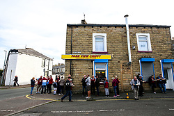 Burnley fans queue for chip shop near Turf Moor - Mandatory by-line: Robbie Stephenson/JMP - 30/08/2018 - FOOTBALL - Turf Moor - Burnley, England - Burnley v Olympiakos - UEFA Europa League Play-offs second leg