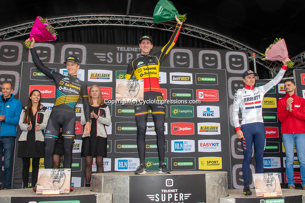 2019-10-19: Cycling: Superprestige: Boom: Toon Aerts wins on his birthday ahead of his teammate Quinten Hermans and Tom Pidcock
