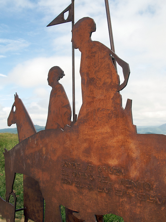 Just outside Pamplona on top of a hill on the Way of Saint James is a fantastic sculpture. A work of modern art, it celebrates the centuries of pilgrims that passed over the Alto de Pardon on their way to Santiago de Compostela.
