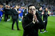 Leicester City vice chairman Aiyawatt Srivaddhanaprabha thanking the fans after the Premier League match between Leicester City and Burnley at the King Power Stadium, Leicester, England on 10 November 2018.
