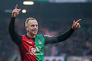 NIJMEGEN, NEC - Achilles 29, voetbal Jupiler League, seizoen 2014-2015, 07-12-2014, Stadion de Goffert, NEC speler Sjoerd Ars heeft de 5-1 gescoord.