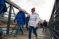 Wow Trail walk on the proposed expansion from Lakeport to Weirs Beach along Paugus Bay.  Karen Bobotas for the Laconia Daily Sun